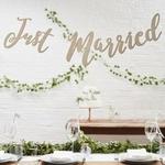 Guirlande bois Just Married présentation