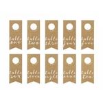 Numéro Table Bouteille Kraft sur fond blanc