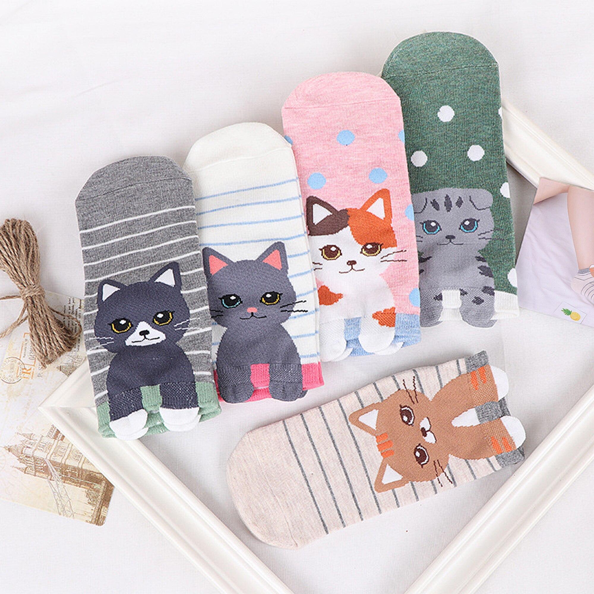 1-paires-femmes-coton-chaussettes-dr-le-mignon-heureux-chat-cheville-court-femmes-chaussettes-d-contract