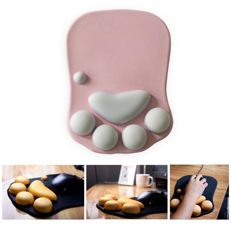3D-tapis-de-souris-mignon-Anime-doux-chat-patte-tapis-de-souris-repose-poignet-soutien-confort