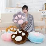 Animal-en-peluche-pattes-enti-rement-farci-color-chat-chien-ours-simul-patte-oreillers-coussin-accessoires