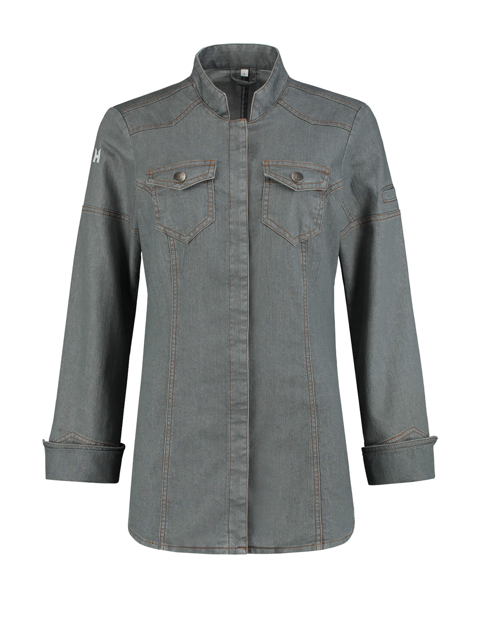 Veste Cuisine Ladies Texas Washed Grey Denim