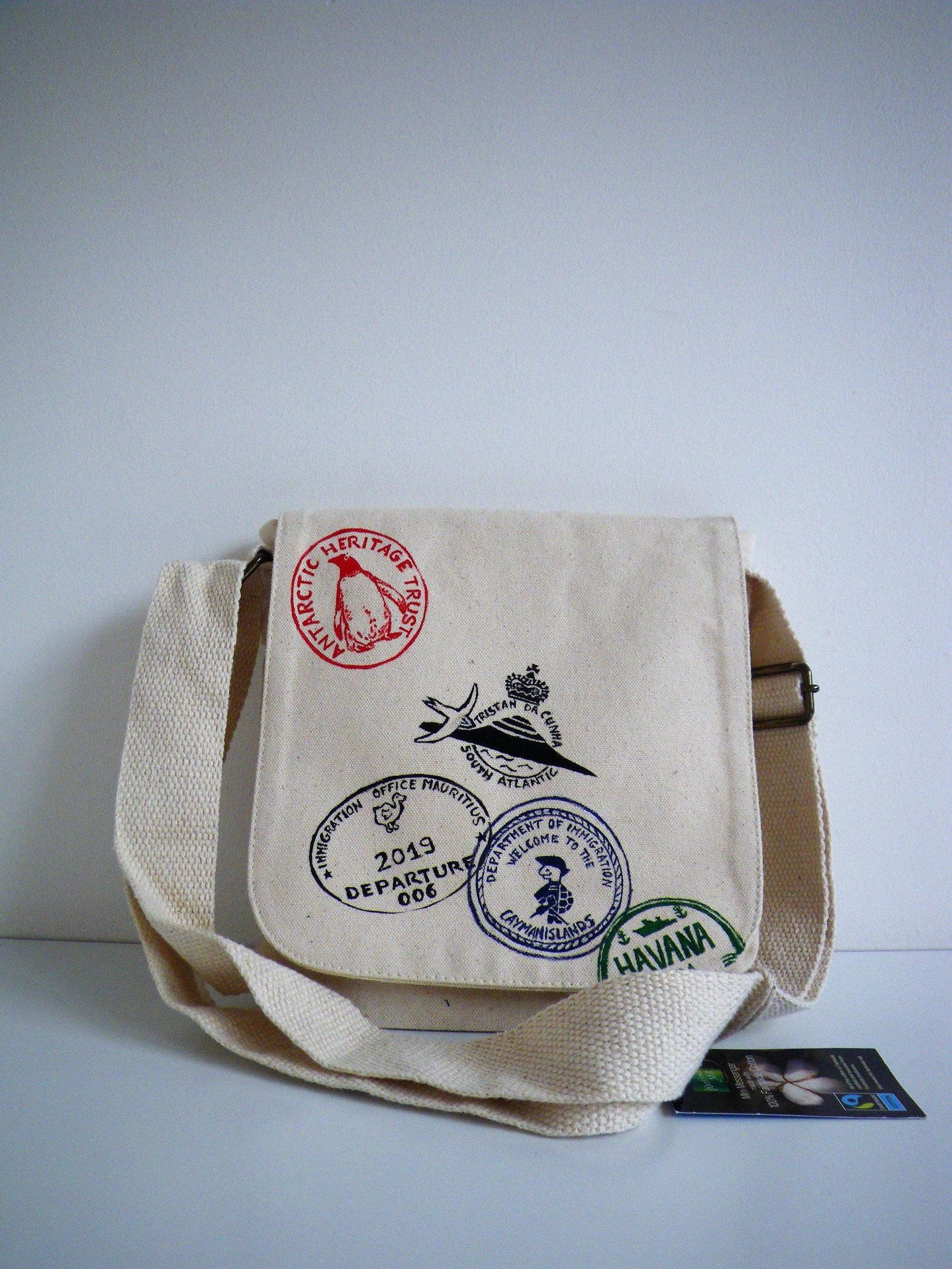 Petit sac à bandoulière coton bio pour homme et femme