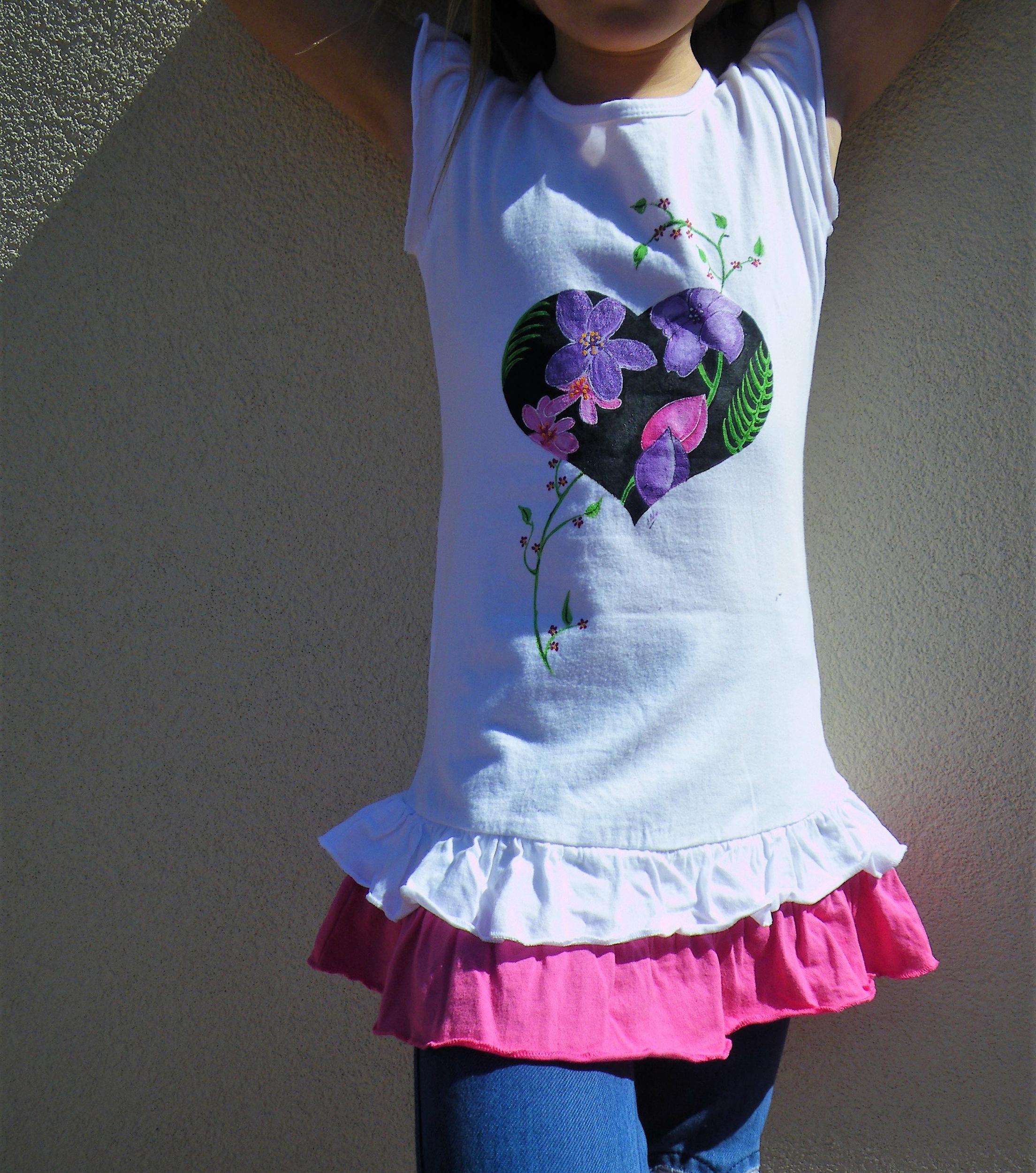 Robe en coton peinte à la main pour fille
