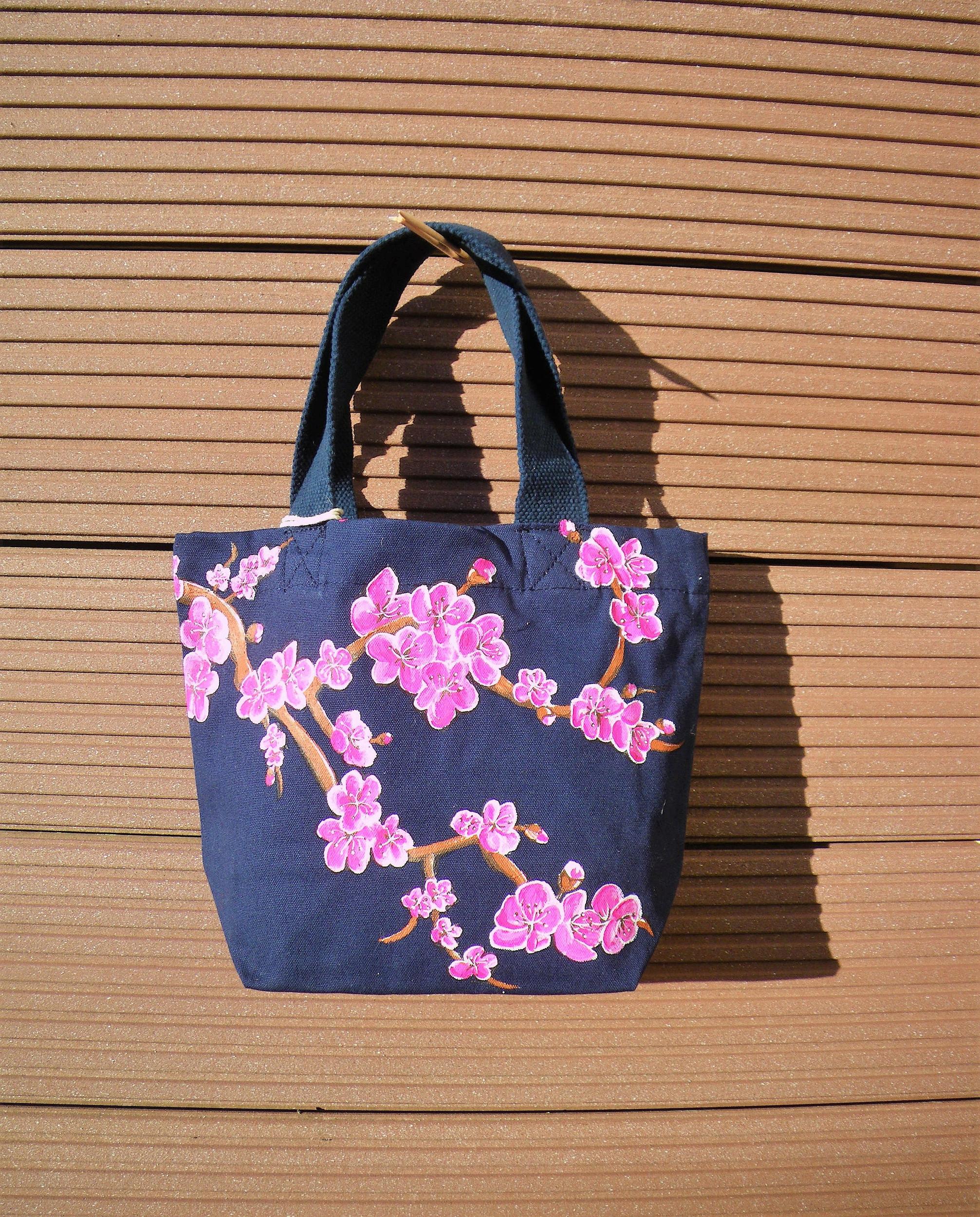 Sac coton bio avec fleurs de cerisier.