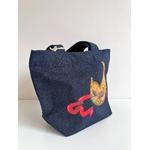 sac coton bleu masque venise (4)