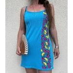 robe de plage bleue wax (1)