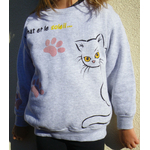 sweat-gris-enfant-chat