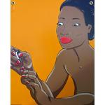 tableau-bois-XL-portrait-femme-noire
