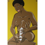 tableau-bois-XL-portrait-femme-noir