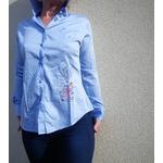 chemise-femme-brodée-bleue