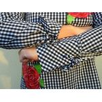 chemise femme pied-de-poule avec roses