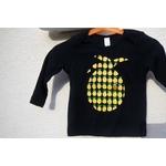 t-shirt bébé noir avec ananas