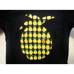 t-shirt-bébé-noir-ananas