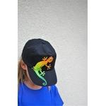 casquette-enfant-noire-lézard