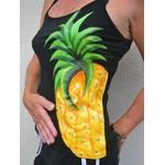 top-femme-noir-ananas