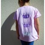 t-shirt rose fille princesse