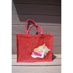 sac-plage-jute-brillante-rouge-coquillage