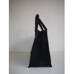 sac jute noire avec fleur de pissenlit