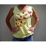 débardeur-femme-jaune-papillons