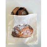 Sac à pain avec miche peinte à la main (3)