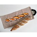 Sac à pain baguette couleur taupe (3)