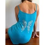 robe bleue avec ailes de papillons dans le dos (1)