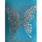 robe bleue avec ailes de papillons dans le dos (3)