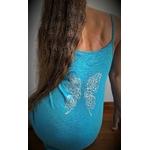 robe bleue avec ailes de papillons dans le dos (6)