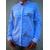 chemise-bleu-femme-mao-imprimée