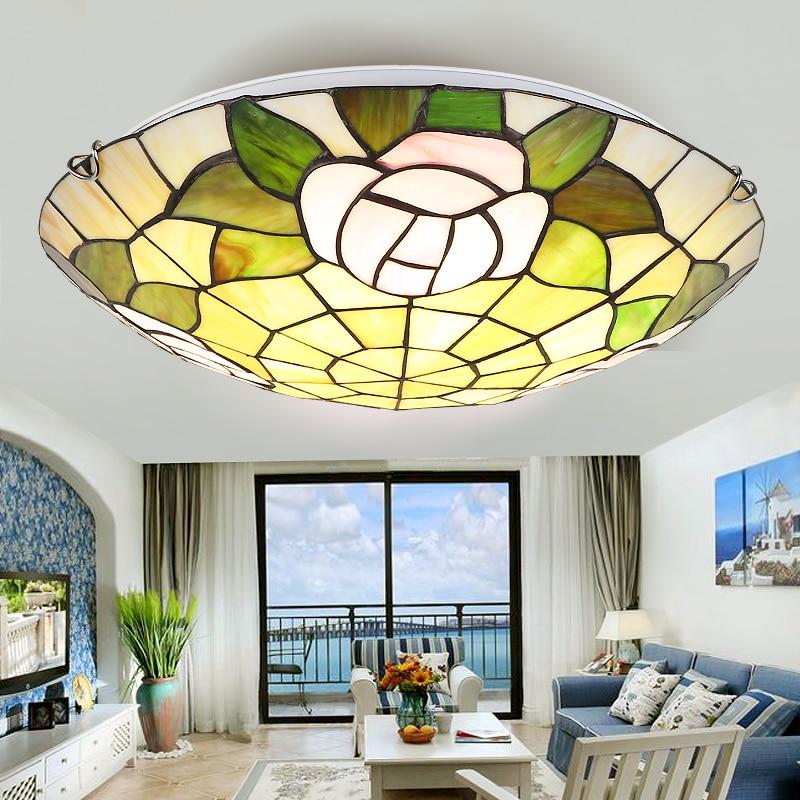Plafonnier verre style Tiffany