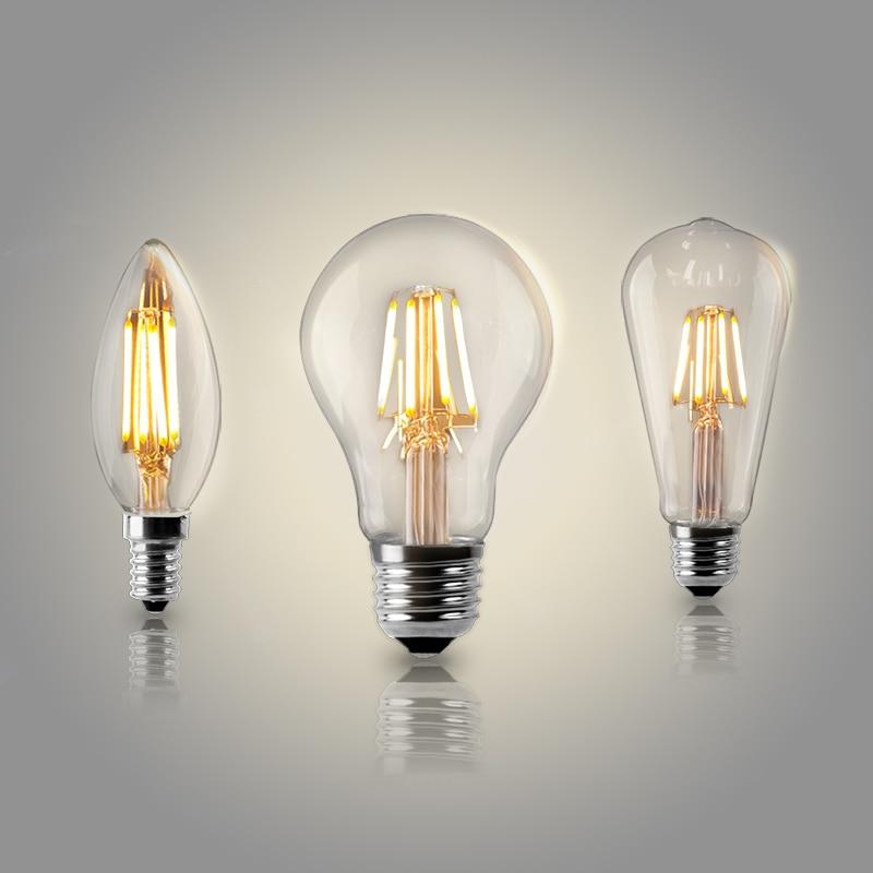 Ampoules led à filament rétro