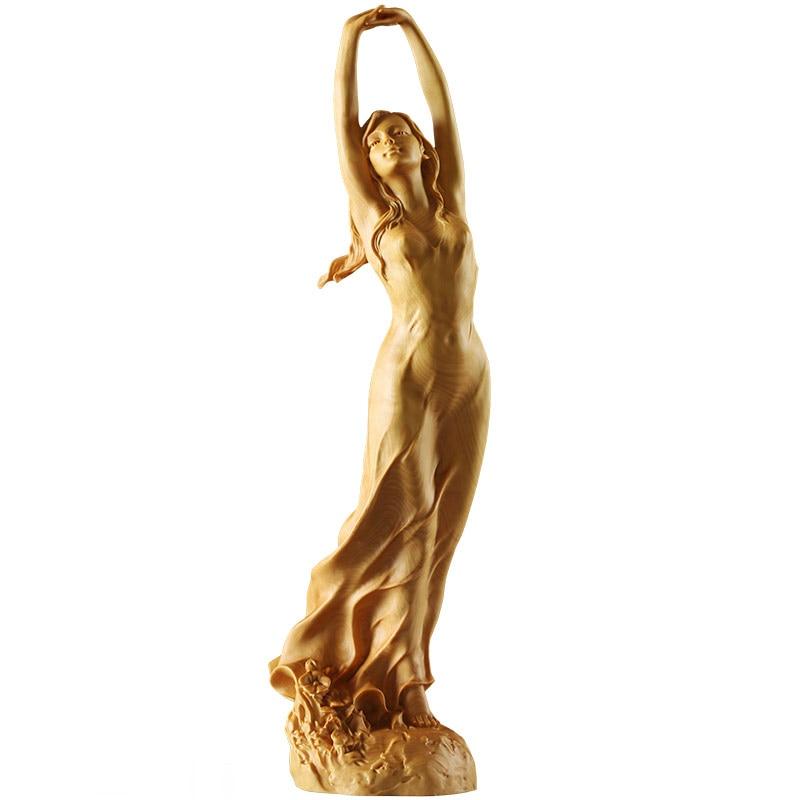 23cm-nouveau-bois-Style-chinois-HD-beaut-femme-Statue-Sculpture-Art-la-main-buis-Sculpture-f