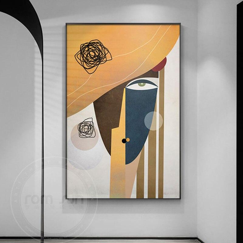 Toile-g-om-trique-moderne-avec-impression-d-art-mural