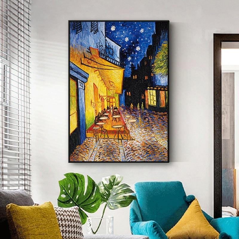 Tableau Van Gogh La terrasse du café le soir