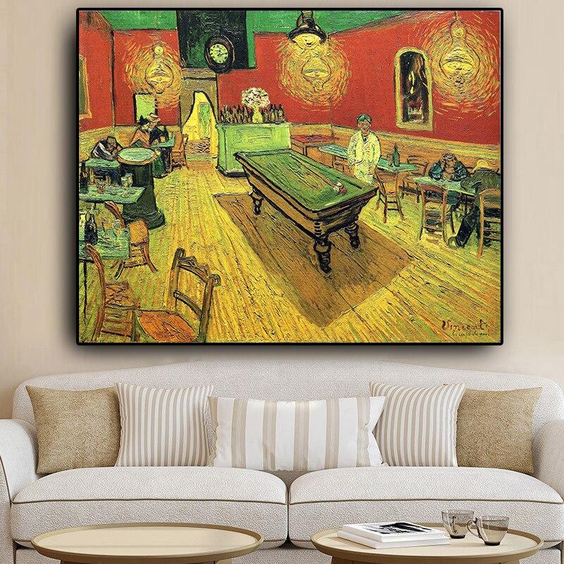 Night-Cafe-by-Van-Gogh-Reproduction-peinture-l-huile-abstraite-sur-toile-affiches-et-impressions-photo