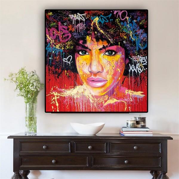 Portrait graffiti de femme afro-américaine