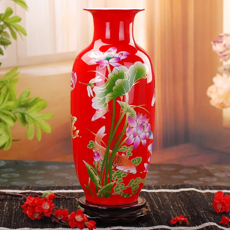 Vase céramique chinois fleur de lotus