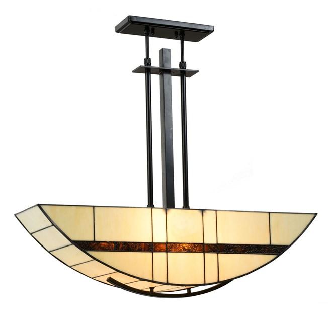 Tiffany Lampe Suspendue Geometric