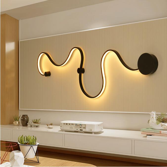 Applique murale led corps alu