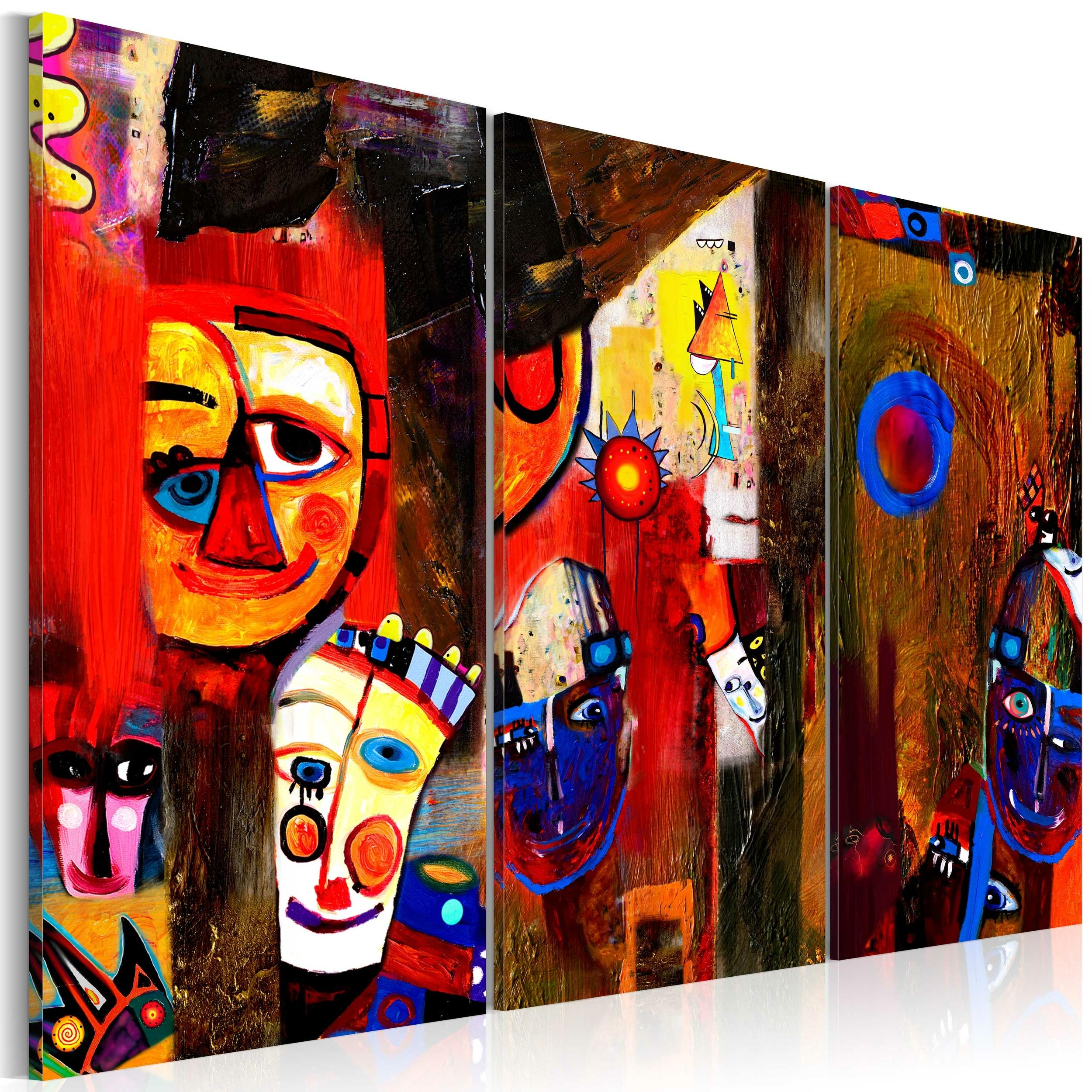 Tableau sur toile Les carnavaleux