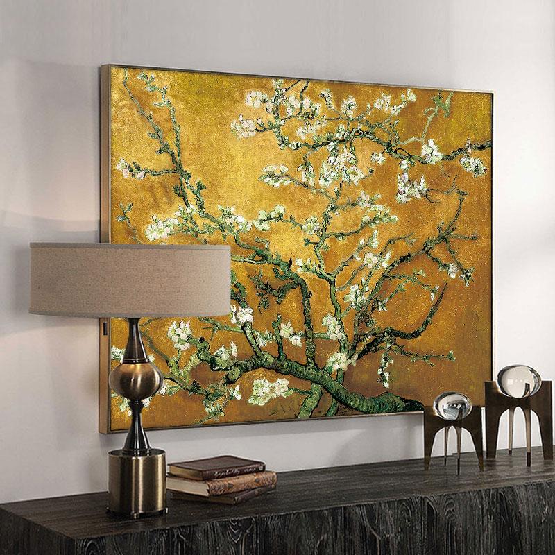 Tableau reproduction Vincent Van Gogh Amandier en fleurs