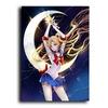 Japonais-Anime-Sexy-marin-lune-toile-peinture-affiches-et-impressions-mur-Art-photo-Cuadros-pour-salon