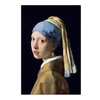 Toile-c-l-bre-peinture-murale-la-fille-avec-boucles-d-oreilles-en-perles-affiches-et