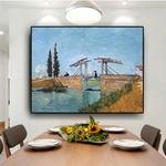 Peinture-l-huile-sur-toile-Reproduction-abstraite-Langlois-Bridge-at-Arles-Van-Gogh-tableau-mural-d