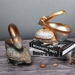 VILEAD-Figurines-Pelica-en-r-sine-22cm-Porte-cl-entr-e-Feng-Shui-accessoires-de-rangement