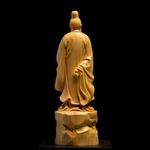 Personnages-chinois-sculpt-s-en-bois-21cm-po-tes-historiques-ornements-pour-cadeau-de-no-l