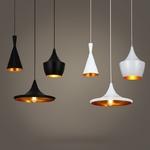 Lampe-suspension-industrielle-Vintage-en-aluminium-Loft-en-aluminium-abat-jour-noir-blanc-lampe-Bar-de