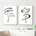 Dessin-au-trait-mur-Art-toile-affiche-impression-Simple-minimaliste-peinture-abstraite-nordique-d-coratif-image