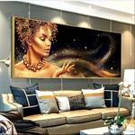 Affiche-pour-femme-nue-africaine-noir-et-or-pour-d-coration-de-maison-image-murale-toile